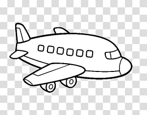 Airplane Drawing Coloring book Helicopter Airliner, aeroplane coloring PNG clipart