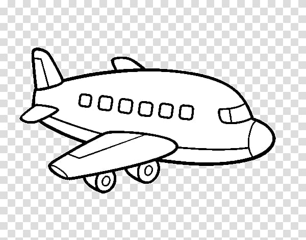 Airplane Drawing Coloring book Helicopter Airliner, aeroplane coloring PNG