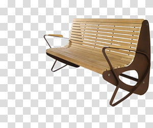 Wood Bench Street furniture Park furniture, wood PNG
