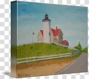 Nobska Light Lighthouse, watercolor lighthouse PNG clipart