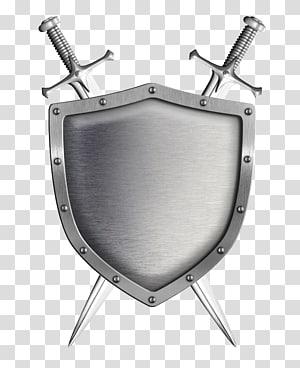 swords and shield illustration, Shield Sword illustration, Shield and sword PNG