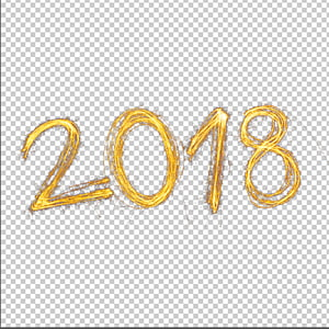 2018 text, New Year Christmas, 2018 fire effct psd PNG clipart