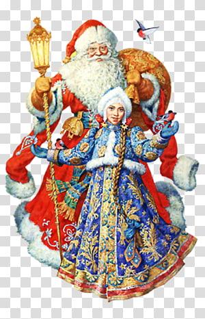 Ded Moroz Snegurochka Santa Claus New Year grandfather, santa claus PNG