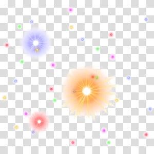 creative fluorescent spot PNG