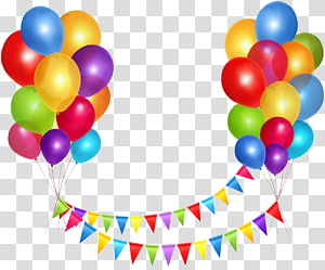 Happy Birthday to You Party Balloon , floating balloons PNG clipart