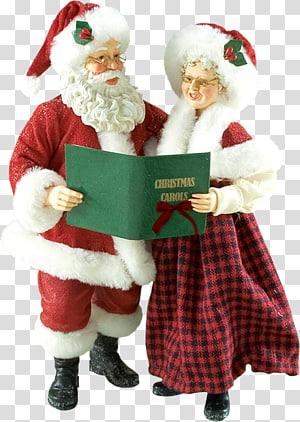 Santa Claus Mrs. Claus Père Noël Christmas ornament, santa claus PNG