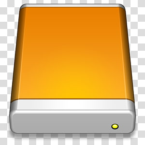 gray and brown electronic device illustration, angle yellow orange, External Drive PNG clipart