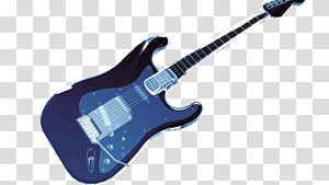 Electric guitar Blue, A blue electric guitar PNG