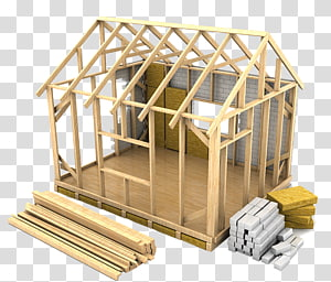 brown house frame, House Framing Architectural engineering Home construction Illustration, Build brick houses PNG clipart