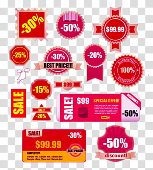Sales promotion Sticker Label, Electricity supplier special discounts tag PNG