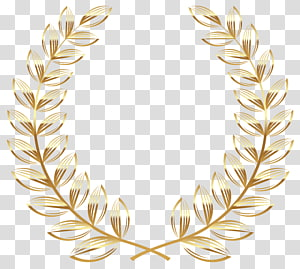 brown fern plant illustration, Laurel wreath Gold , wreath PNG clipart