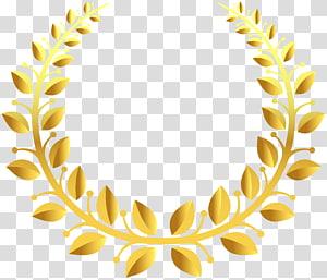 Laurel wreath, design PNG clipart