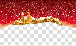 Christmas music Santa Claus New Year Wish, Christmas snow village PNG