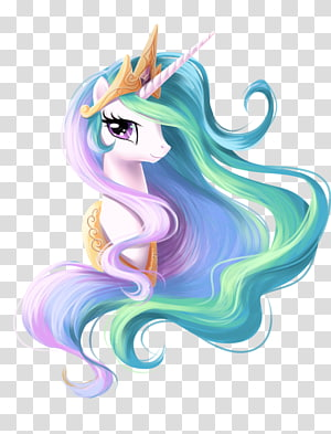 Princess Celestia Princess Luna Twilight Sparkle Rarity Pony, unicorn face, pink, purple, and green unicorn illustration PNG