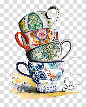 Teacup Teapot Coffee, iced tea PNG