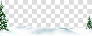 white simple snow trees border texture PNG clipart