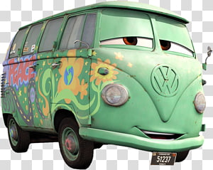 Car Lightning McQueen Volkswagen Type 2 Mater Fillmore, car PNG