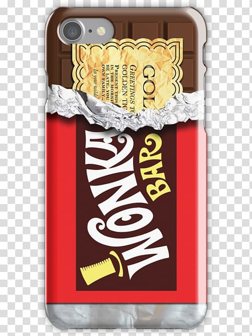 Wonka Bar Willy Wonka Apple iPhone 8 Plus Chocolate bar Apple iPhone 7 Plus, chocolate PNG