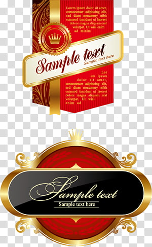 Label, Bunting Label Crown Label PNG