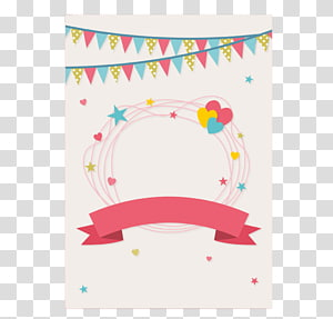 fresh anniversary greeting card material PNG clipart