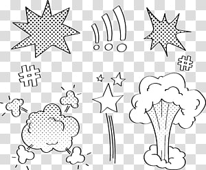 white kaboom explosion illustration, Comics explosion cloud dialog PNG clipart