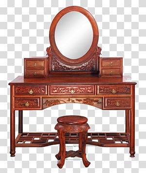 Furniture Antique Mirror Bedroom Achiote, Vintage wooden dresser PNG clipart
