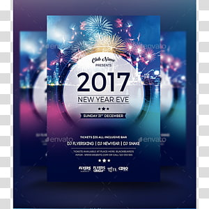 New Year\'s Eve Flyer New Year\'s Day Party, Digital Flyers PNG clipart