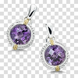 Earring Amethyst Jewellery Gemstone Charms & Pendants, amethyst PNG clipart