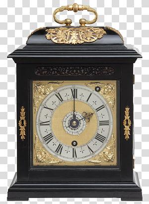 Floor & Grandfather Clocks Antique Bracket clock Mantel clock, antique PNG