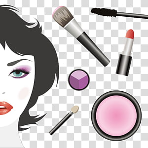 Cosmetics Face Make-up artist Illustration, Hand-painted makeup PNG clipart