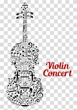 violin illustration, violin PNG