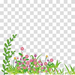 Cartoon , Cartoon grass Wildflowers PNG clipart