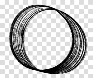 Wire Circle Black Brush Silver, brush stroke circle PNG clipart