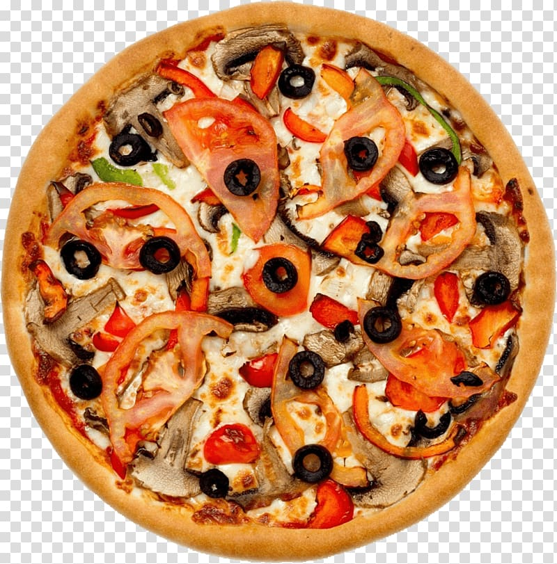 olive, mushroom, and tomato pizza, Pizza Take-out Submarine sandwich Fast food, Pizza PNG clipart