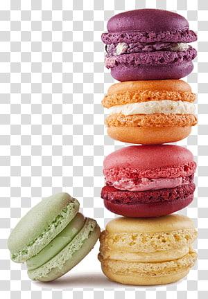 five macaroons, Macaron Macaroon Bakery French cuisine Cake, cake PNG