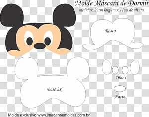Molde Mickey Mouse Mask Boo Minnie Mouse, face mask PNG