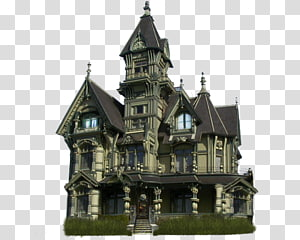 Manor house Carson Mansion Haunted house, house PNG clipart