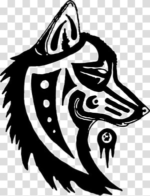Gray wolf Totem pole Symbol Drawing, symbol PNG