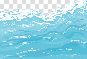 ocean waves illustration, Cartoon lake water spray PNG clipart