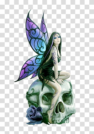 Fairy Elf Fantastic art Skull, Fairy PNG clipart
