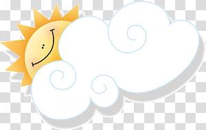 cartoon sun clouds PNG