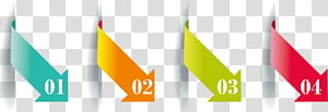 four assorted-color arrow with numbers illustration, Chart Graphic design Infographic, elements PPT PNG clipart