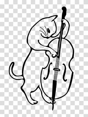 Cat Double bass Musical Instruments Kitten, Cat PNG