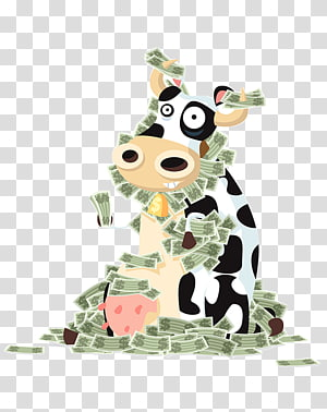 Cattle Cash cow Money graphics, dairy cow PNG clipart