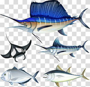 Fish hook Illustration, seabed fish PNG clipart