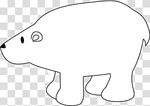 Polar bear Baby Polar Grizzly bear, Bear outline PNG