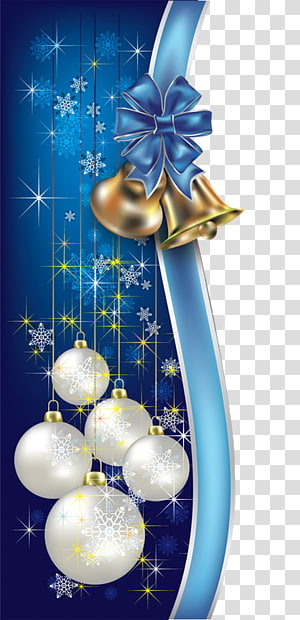 white and blue Christmas baubles , Santa Claus Holiday Christmas tree New Year, Christmas blue decorative borders PNG