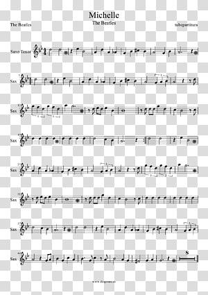 Sheet Music The Beatles Flute Violin, sheet music PNG clipart