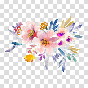 Floral design Oil painting Watercolor painting, design PNG