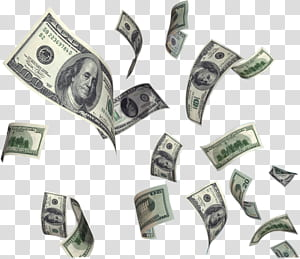 United States Dollar Money Flying cash, Dollar Flying Money , 100 US dollar banknotes PNG clipart